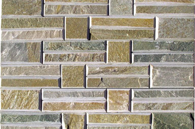 SC014 Yellow Stacked Stone Slate