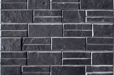 SC018 Black Stacked Stone Slate